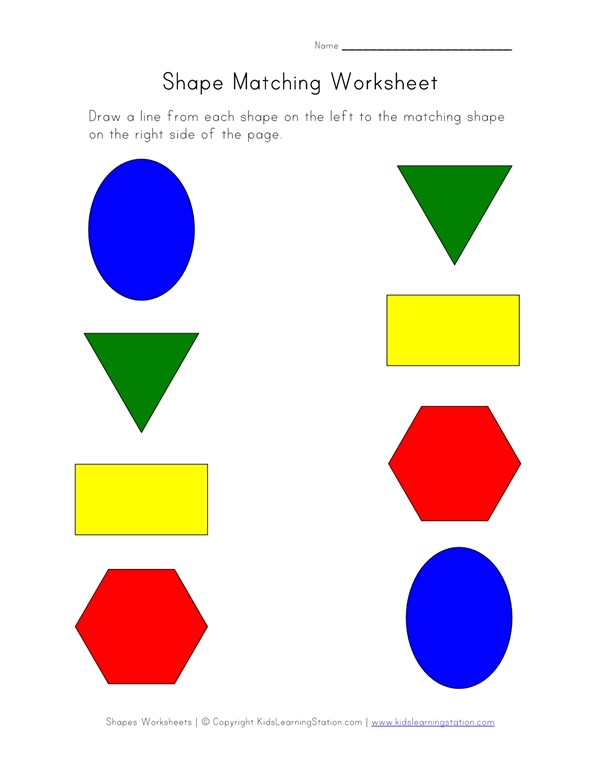 Shapes Matching Worksheet All Kids Network