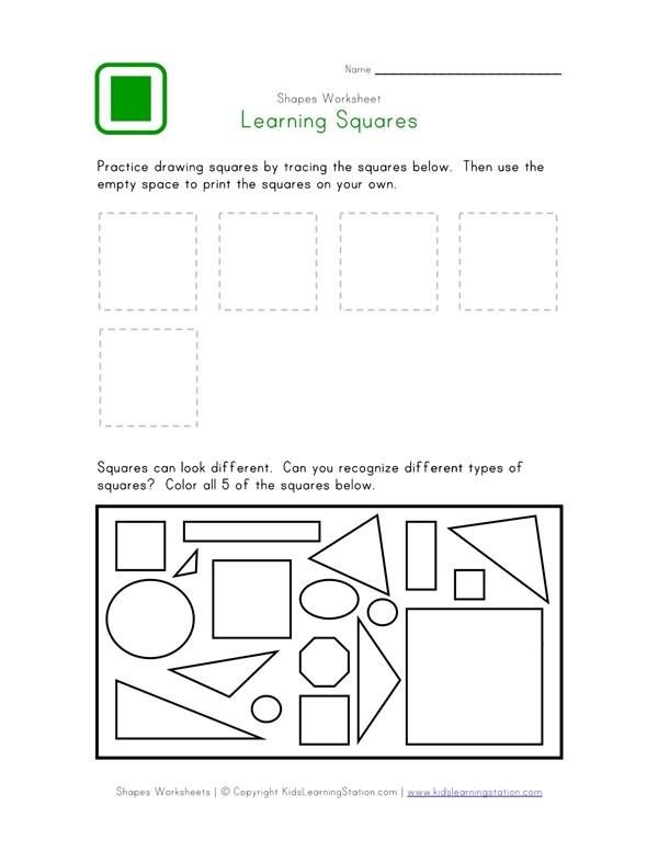 Square Worksheet | All Kids Network