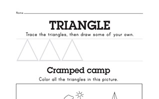 Free Triangle Worksheet