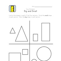 free big and small worksheet