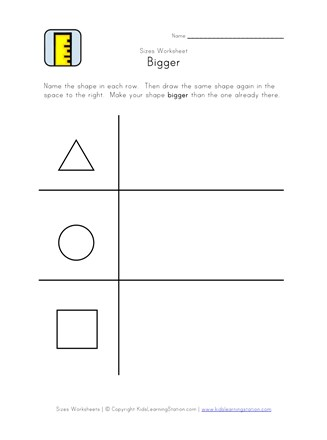 bigger worksheet