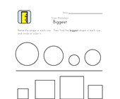 biggest size worksheet