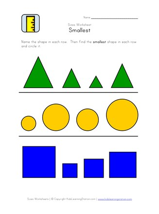 smallest worksheet