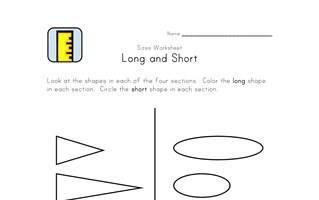 learn long and short worksheet