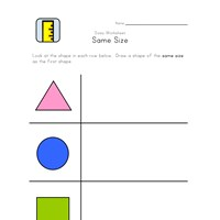 draw same size worksheet
