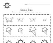 same size worksheet