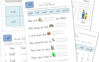 spelling -all words worksheet