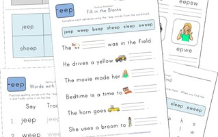 spelling -eep words worksheet
