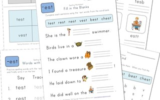 spelling -est words worksheet