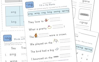 spelling -ing words worksheet