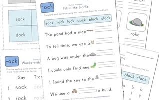spelling -ock words worksheet