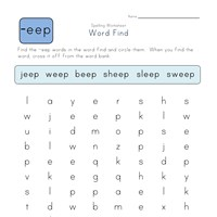 -eep Words Search worksheet