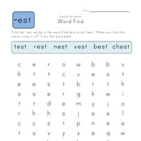 -est Words Search worksheet