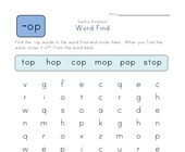 -op Words Search worksheet