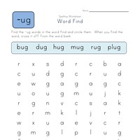 -ug Words Search worksheet