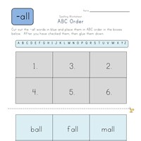 ABC Order -all Words worksheet