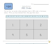 ABC Order -an Words worksheet