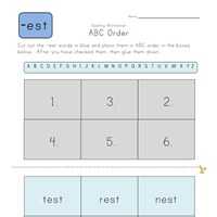 ABC Order -est Words worksheet