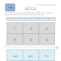 ABC Order -in Words worksheet