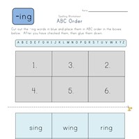 ABC Order -ing Words worksheet