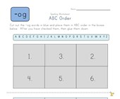 ABC Order -og Words worksheet