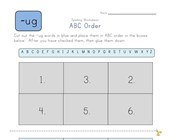 ABC Order -ug Words worksheet