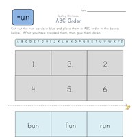 ABC Order -un Words worksheet