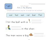 Complete the Sentences with -at Words worksheet