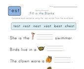 Complete the Sentences with -est Words worksheet