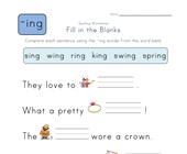 Complete the Sentences with -ing Words worksheet