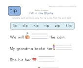 Complete the Sentences with -ip Words worksheet