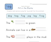 Complete the Sentences with -og Words worksheet