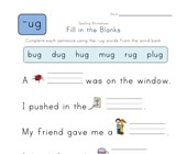 Complete the Sentences with -ug Words worksheet