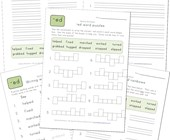 spelling -ed words worksheet