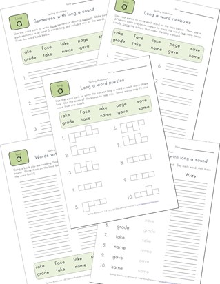 spelling long a words worksheet