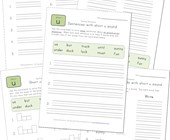 spelling short u words worksheet