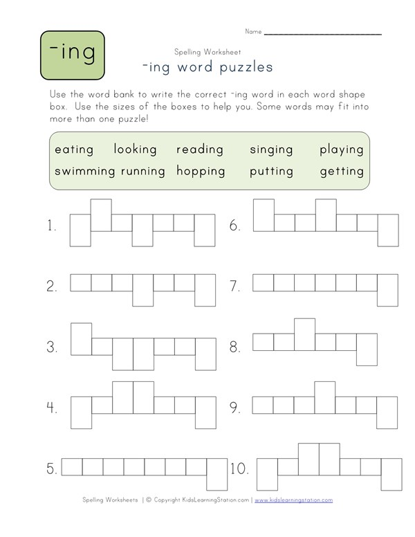 Ing Word Shapes Puzzle All Kids Work. Ing Word Shapes Puzzle All Kids Work. Worksheet. Getting Into Shapes Worksheet At Clickcart.co
