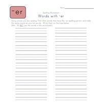 find -er words worksheet