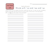 Spelling Worksheets For Words With Oo Ew And Ue Pattern All Kids Network
