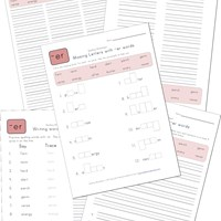 spelling er words worksheet