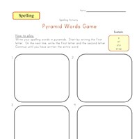 spelling pyramid words worksheet