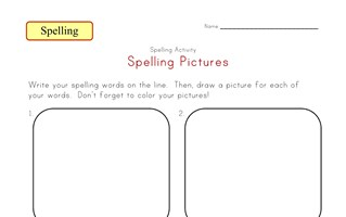 customizable spelling pictures worksheet