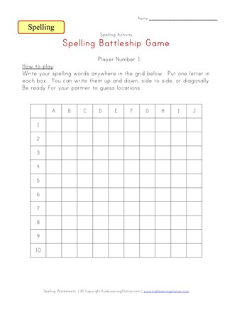 photo relating to Battleship Game Printable identify Spelling Sport - Battleship All Youngsters Community