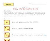 spelling dice game