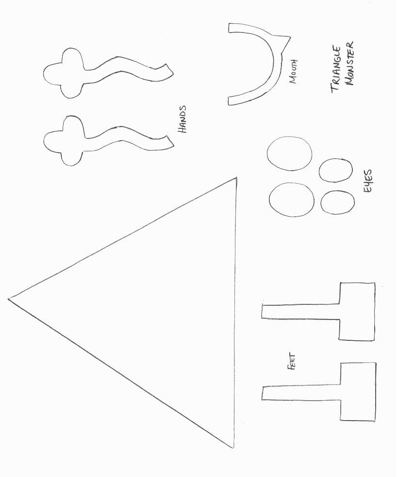 Shape Monster Crafts : All Kids Network