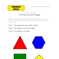 thinking activity worksheet