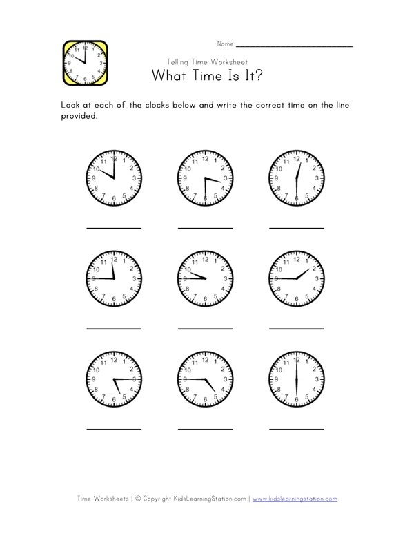Telling Time Worksheet   Minute Intervals  All Kids Network