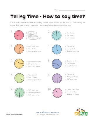 How to Say the Time