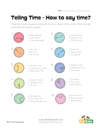 How to Say the Time 2