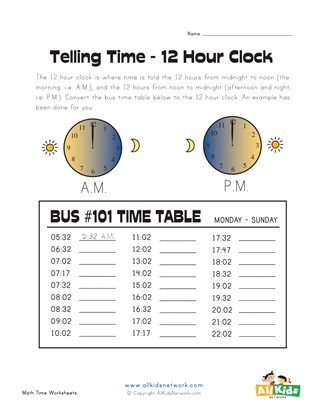 Convert 24 to 12 Hour Clock